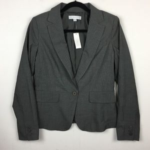 New York & Company Gray Pinstripe Blazer